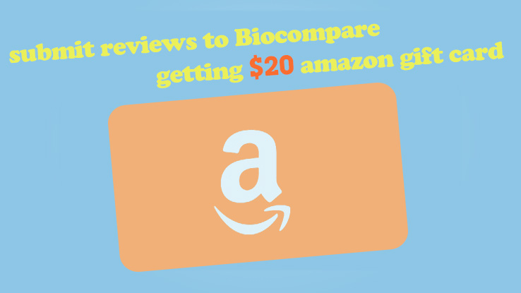 Get a $20 amazon gift card with submitting reviews
